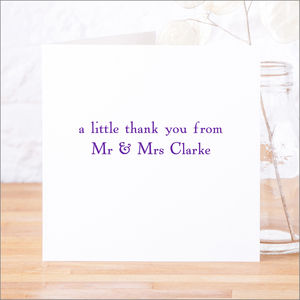 Single Or Pack Of Personalised Thank You Cards D5 - shop by category