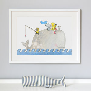Whentworth Whale Nursery Print - canvas prints & art for children