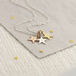 Tricolore Stars Necklace - necklaces & pendants