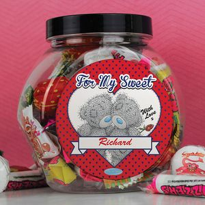 For My Sweet Tatty Teddy Personalised Sweet Jar