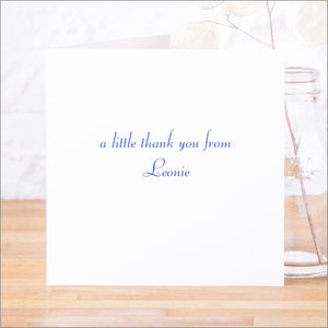Single Or Pack Of Personalised Thank You Cards D7