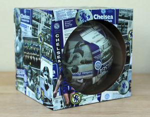 Boxed Retro Chelsea Football - new in garden