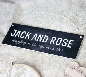Personalised Couple Sign - room decorations