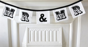 Mr And Mr Personalised Garland - decorative accessories