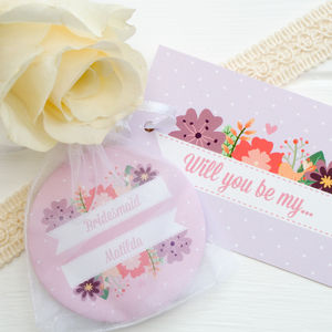 Personalised 'Will You Be My Bridesmaid' Pocket Mirror