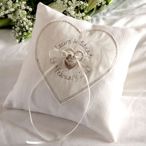Personalised Wedding Ring Pillow - personalised cushions
