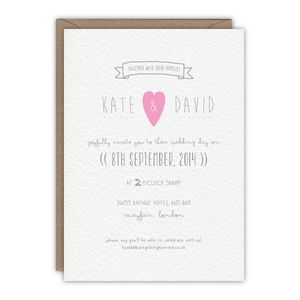 Soya Milk Wedding Invitation