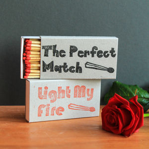 Novelty Valentines Gift Printed Match Box - gifts for him