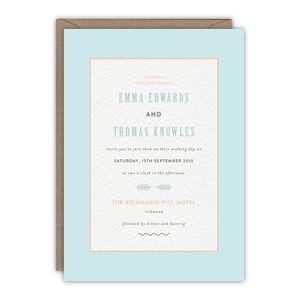Norma Wedding Invitation - wedding stationery