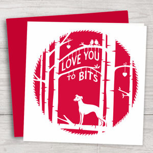Valentine's Day Card With Whippet - valentine's cards