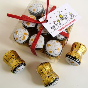 Wedding Favour Box Of Chocolate Champagne Corks - new in wedding styling