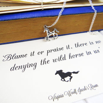 Virginia Woolf Wild Horse Necklace