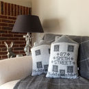 Personalised Knitted House Cushion
