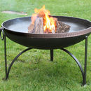 Mosaic Band Plain Jane Firepit With Swing Arm BBQ Rack