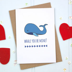 'Whale You Be Mine' Card