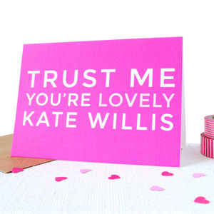 Personalised 'You're Lovely' Valentines Card - view all sale items
