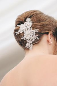 Pearly Lace Bridal Hair Comb