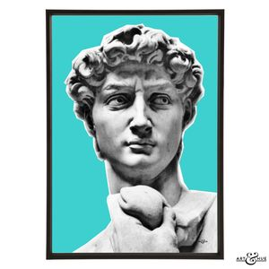 Davids Face By Michelangelo's Pop Art Print