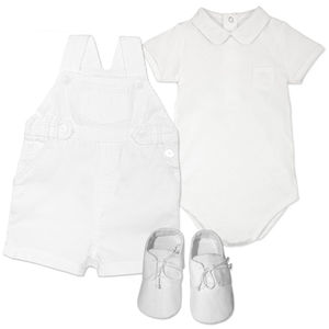 Baby Boys Cotton Dungaree Christening Outfit