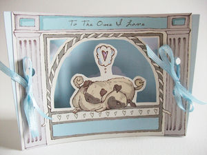 Mini Theatre 'One I Love' Pug Card - personalised