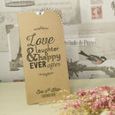 Kraft 'Love Laughter' Wedding Invitation