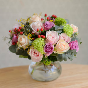 Luxury Vintage Pink Blush Rose Bouquet - home accessories