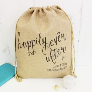 Personalised Happily Ever After Engagement Sack
