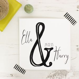Personalised Wedding Day Ampersand Card