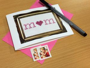 Cross Stitch 'Mum' Mother's Day Card