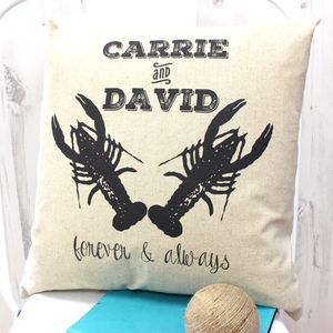 Personalised Lobster Valentine's Day Cushion - personalised cushions