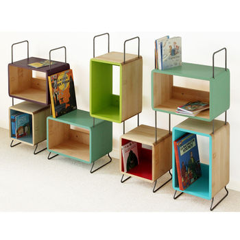 Kid's Sigmund Solid Wood Seven Module Bookcase