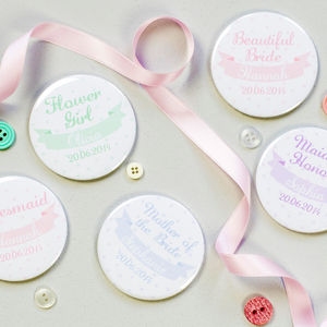 Personalised Polka Dot Hen Party Or Wedding Mirrors