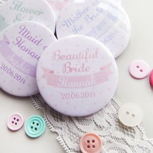 Personalised Polka Dot Hen Party Or Wedding Mirrors - hen party styling and gifts