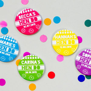 Mexican Fiesta Personalised Hen Do Badges