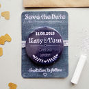 Chalk Style Wedding Save The Date Magnet