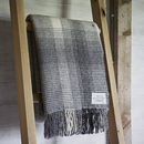 Ombre Grey Cashmere And Merino Throw