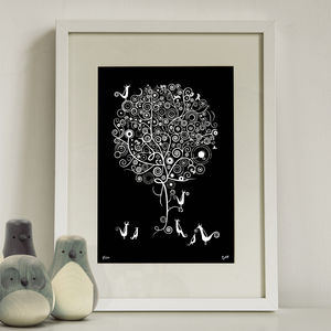 'Birds Of The Spiral Tree V1' Art Print