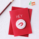Funny Valentine's Card With Magnet Gift