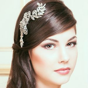 Nicole Crystal And Pearl Bridal Headdress