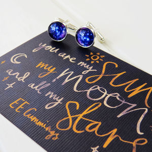 Galaxy Cufflinks - love tokens