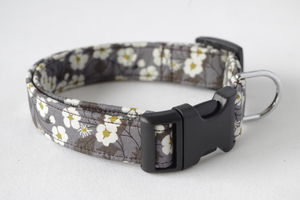 Willow Liberty Fabric Dog Collar - dog collars
