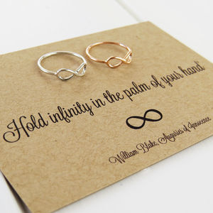William Blake Infinity Ring - love tokens for her