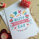 Pink And Teal Sweet Valentine's Day Card
