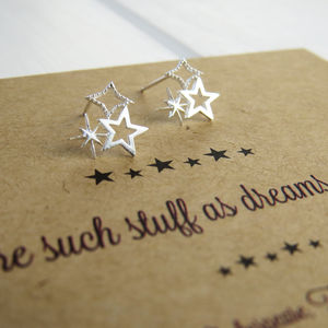 Shakespeare Star Earrings - earrings