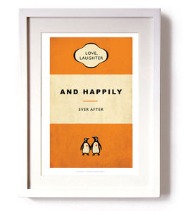 'Love, Laughter And Happily Ever After' Print - typography