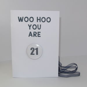 Personalised Badge Card For Any Occasion