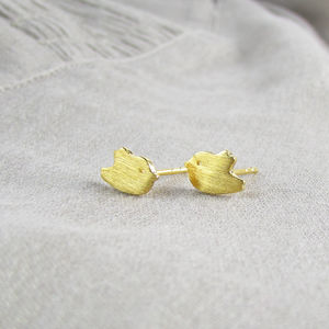 Gold Bird Stud Earrings - earrings