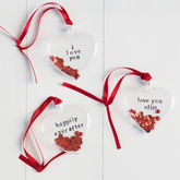 Personalised Glass Heart - christmas decorations