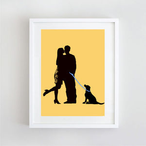 My Love Silhouette Wedding Print - home accessories