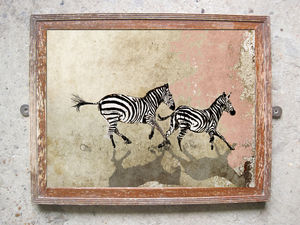 Cantering Zebras Limited Edition Signed Print - limited edition art